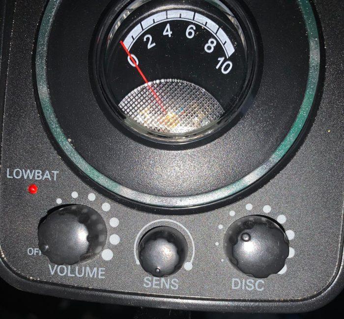 Metaaldetector analoog dashboard